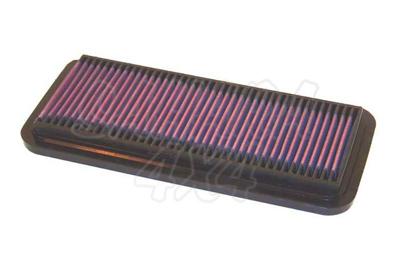 Filtro K&N Air Filter para reemplazo Suzuki Vitara 1.6 Gasolina(88-98) - K&N 33-2065: Alto 2.2 cm x Largo 29.7 cm x Ancho 13.5 cm.