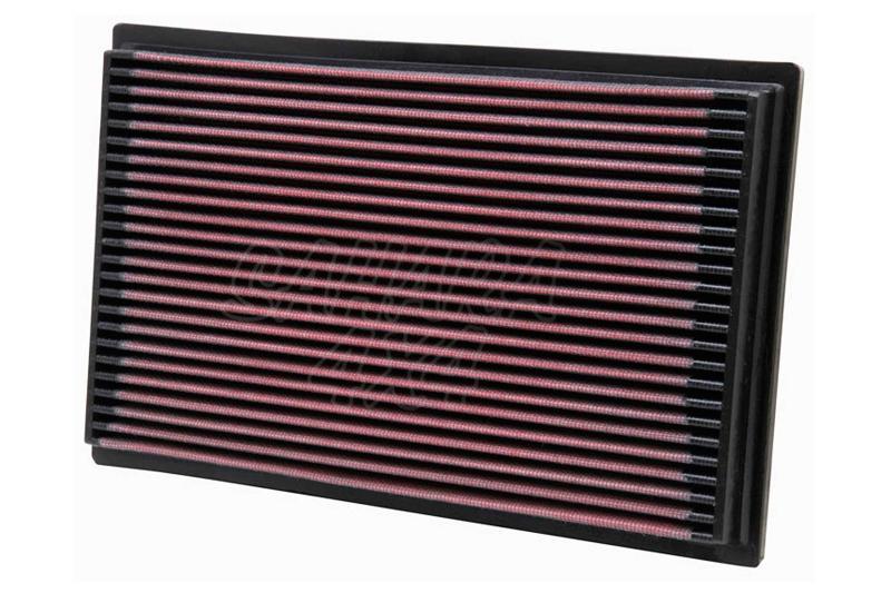Filtro K&N Air Filter para reemplazo Nissan Navara/Pathfinder - K&N 33-2080: Alto 2.7 cm x Largo 28.1 cm x Ancho 17.9 cm.
