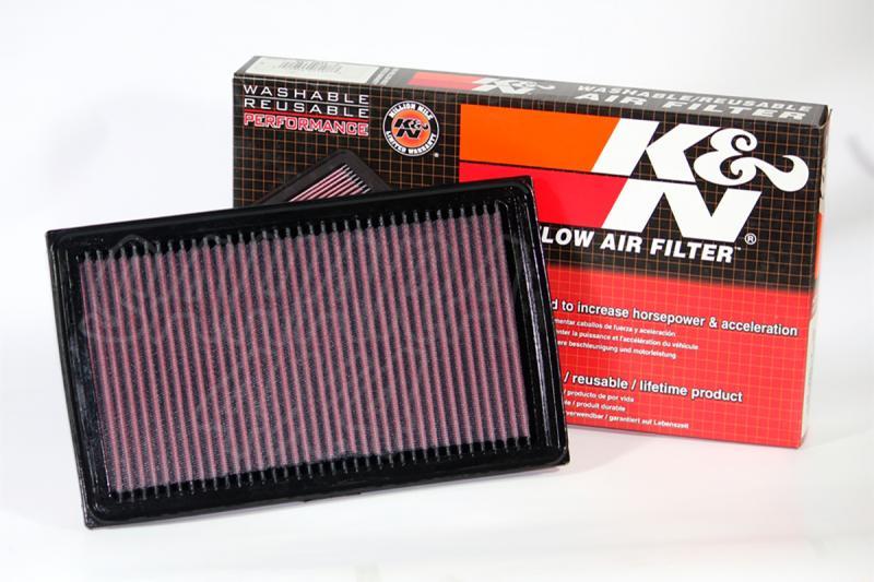 Filtro K&N Air Filter para reemplazo Opel Frontera B - K&N 33-2108: Alto 3 cm x Largo 31.3 cm x Ancho 20.2 cm.