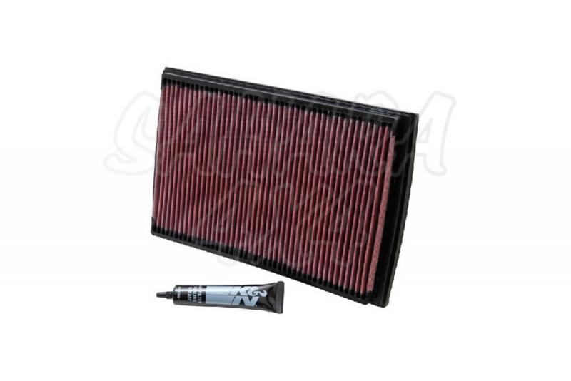Filtro K&N Air Filter para reemplazo para Volvo XC70 2000-2005 - K&N 33-2176: Alto 2.9 cm x Largo 32.4 cm x Ancho 21.1 cm.