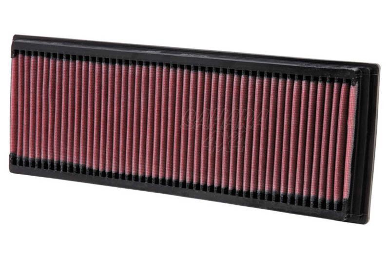 Filtro K&N Air Filter para reemplazo Mercedes Benz Clase G/GL(X164)/GLK(X204)/Clase M(W164) - K&N 33-2181: Alto 3.2 cm x Largo 34.8 cm x Ancho 13.2 cm.