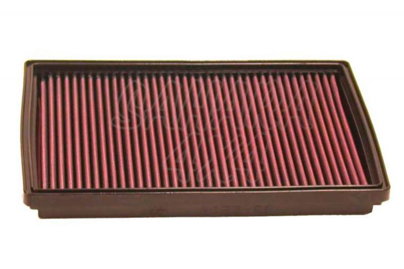Filtro K&N Air Filter para reemplazo Ssang Yong Korando/Musso - K&N 33-2214: Alto 2.7 cm x Largo 28,1 cm x Ancho 18.9 cm