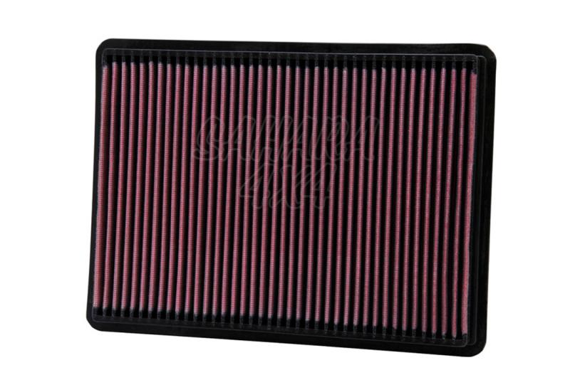 Filtro K&N Air Filter para reemplazo Jeep Cherokee/Liberty/Commander/Grand Cherokee - K&N 33-2233: Alto 2.9 cm x Largo 29.1 cm x Ancho 21.6 cm.