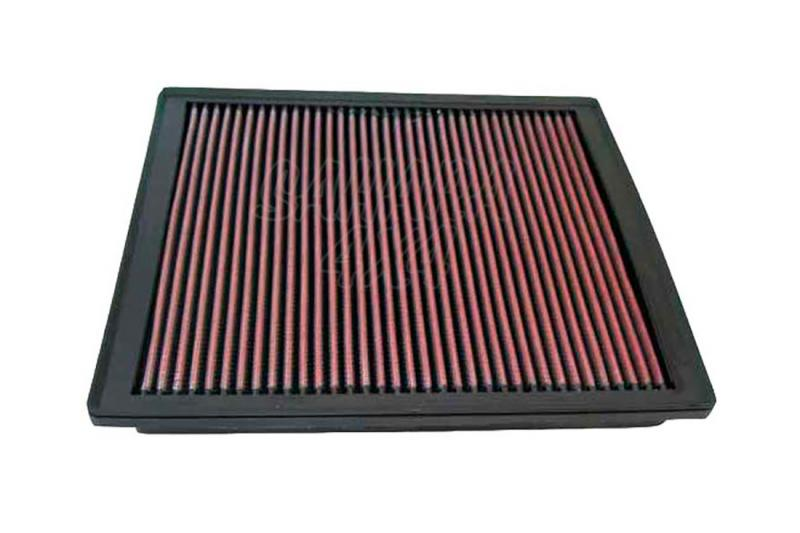 Filtro K&N Air Filter para reemplazo Jeep Grand Cherokee 4.7 Gasolina (High output) 1999-2005 - K&N 33-2246: Alto 2.2 cm x Largo 27.3 cm x Ancho 24.8 cm.