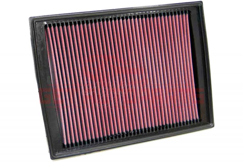 Filtro K&N Air Filter para reemplazo Land Rover Discovery III/Discovery 4/Range rover Sport - K&N 33-2333: Alto 2.9 cm x Largo 29.7 cm x Ancho 22.4 cm.