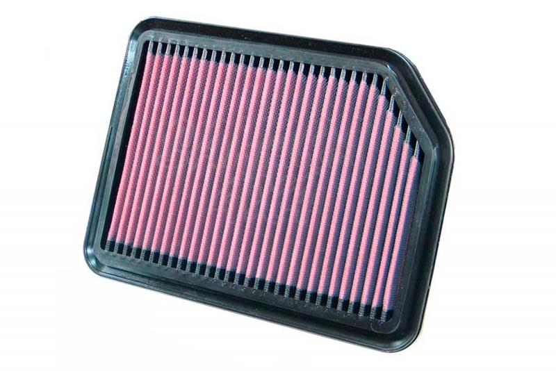 Filtro K&N Air Filter para reemplazo Suzuki Gran Vitara  - K&N 33-2361: Alto 1.9 cm x Largo 22.9 cm x Ancho 17.5 cm.