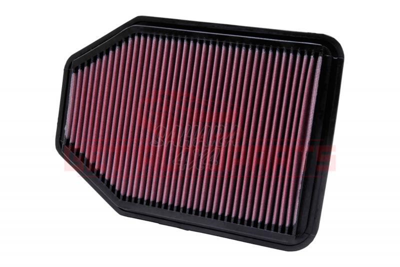Filtro K&N Air Filter para reemplazo Jeep Wrangler 3.6 Gasolina (2012-2015), 3.8 Gasolina (2007-2012 - K&N 33-2364: Alto 2.2 cm x Largo 29.8 cm x Ancho 21 cm.