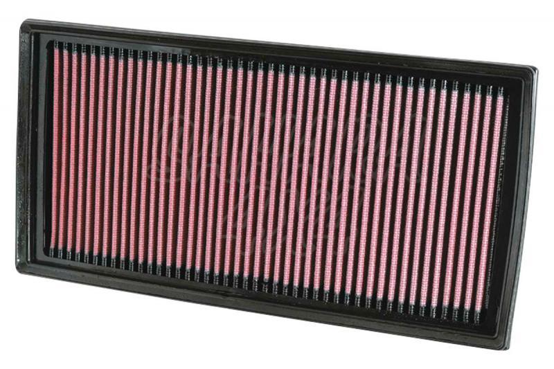 Filtro K&N Air Filter para reemplazo Mercedes Benz Clase M(W164) ML63 AMG(05-11) Requiere 2 filtros - K&N 33-2405: Alto 2.5 cm x Largo 30.8 cm x Ancho 15.6 cm.