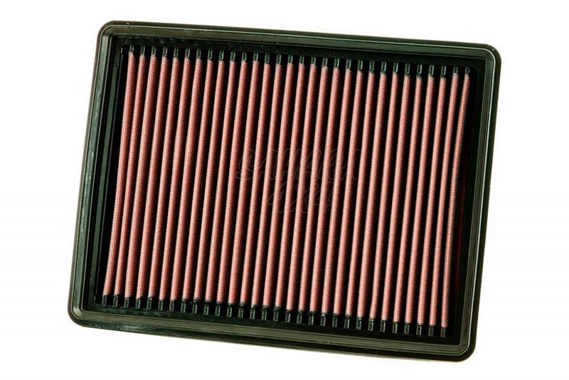 Filtro K&N Air Filter para reemplazo Jeep Commander 3.0 Diesel 08-10 - K&N 33-2420: Alto 4.1 cm x Largo 29.2 cm x Ancho 21.6 cm.