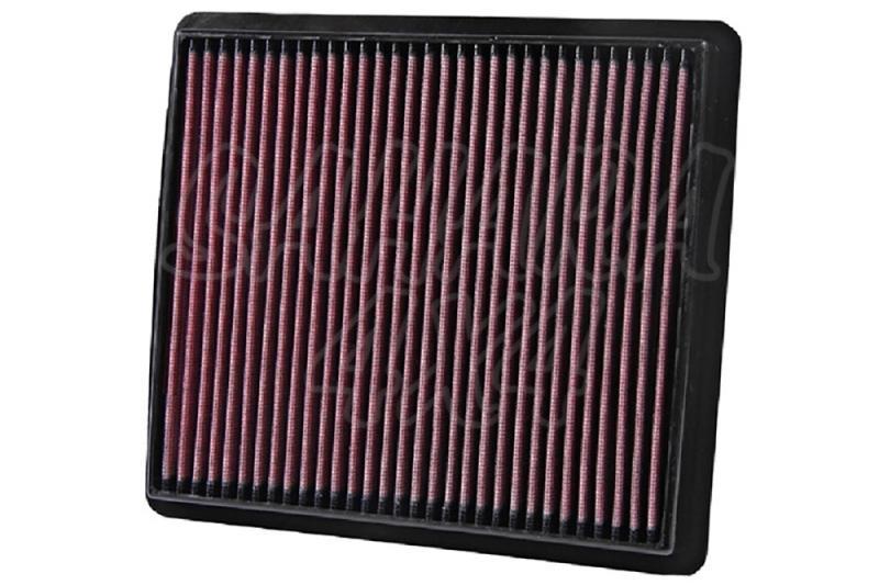 Filtro K&N Air Filter para reemplazo para Dodge Journey y Fiat Freemont - K&N 33-2423: Alto 2.9 cm x Largo 23.8 cm x Ancho 26.5 cm.