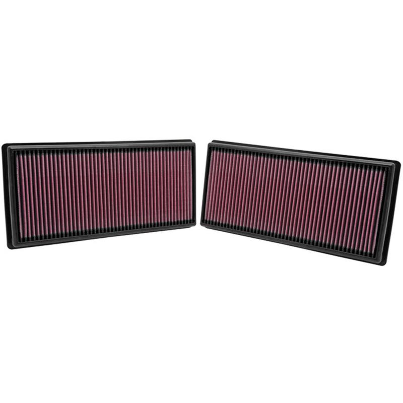 Filtro K&N Air Filter para reemplazo Land Rover Discovery 4/Range rover III,IV,Sport,Sport II - K&N 33-2446: Alto 2.5 cm x Largo 33.5 cm x Ancho 16.2 cm.