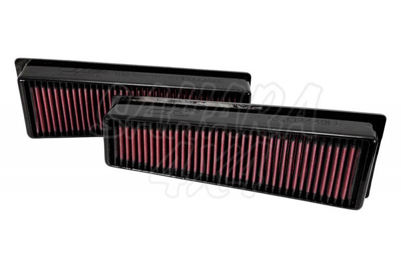 Filtro K&N Air Filter para reemplazo BMW X5(E70) X5M, X6(E71) X6M - K&N 33-2449: Alto 5.7 cm x Largo 32.7 cm x Ancho 10.8 cm.