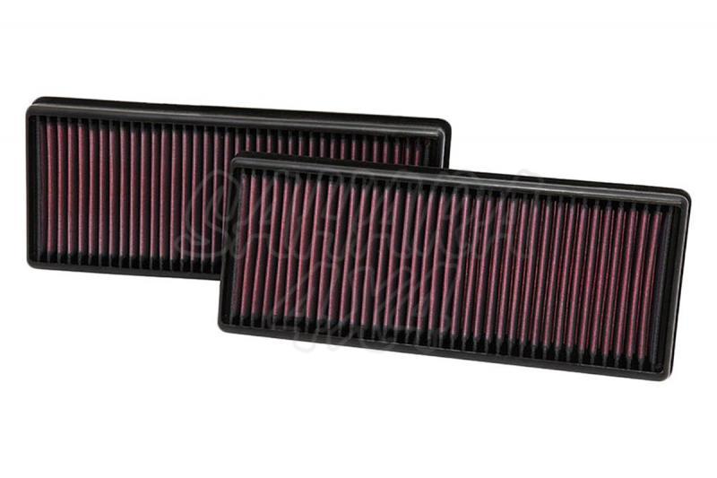 Filtro K&N Air Filter para reemplazo Mercedes Benz Clase G/GL(X166)/Clase M - K&N 33-2474: Alto 4.1 cm x Largo 31.9 cm x Ancho 13.3 cm.