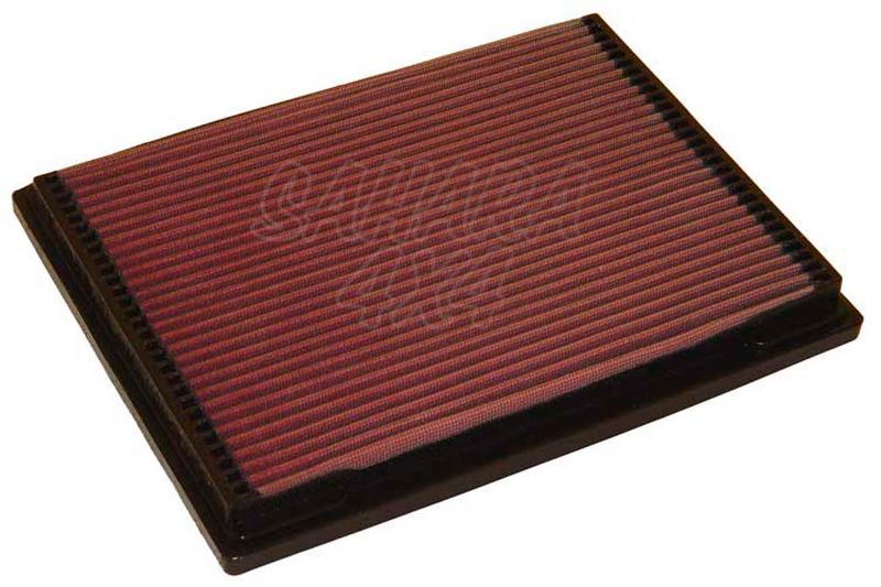 Filtro K&N Air Filter para reemplazo Mercedes Benz Clase M(W163) - K&N 33-2703: Alto 2.5 cm x Largo 29.2 cm x Ancho 22.4 cm.