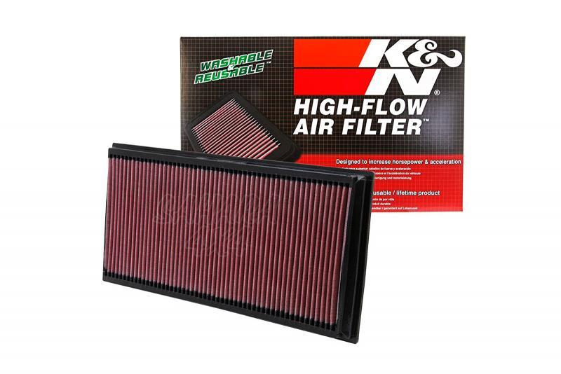 Filtro K&N Air Filter para reemplazo Porsche Cayenne I(955)/Cayenne II(958) - K&N 33-2857: Alto 3 cm x Largo 38.7 cm x Ancho 18.6 cm.