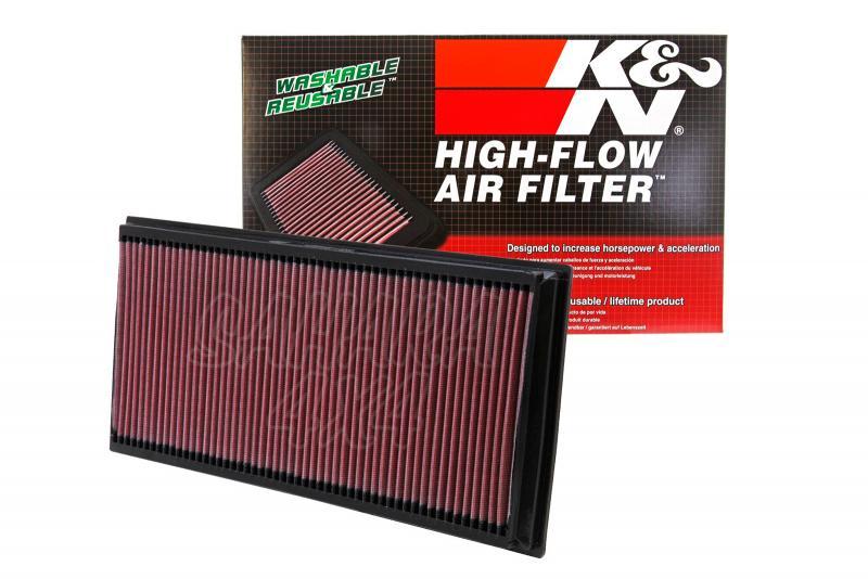 Filtro K&N Air Filter para reemplazo Audi Q7 4.2 Gasolina/Diesel; 5.0 Diesel; 6.0 Diesel - K&N 33-2857: Alto 3 cm x Largo 38,7 cm x Ancho 18,6 cm. En el precio se incluye los dos filtros.