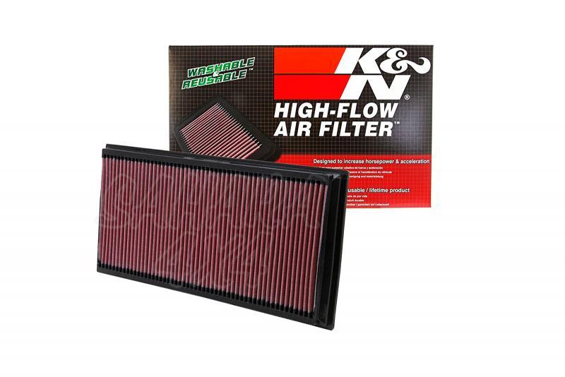 Filtro K&N Air Filter para reemplazo Volkswagen Touareg(7L)/Touareg(7P) - K&N 33-2857: Alto 3 cm x Largo 38.7 cm x Ancho 18.6 cm.