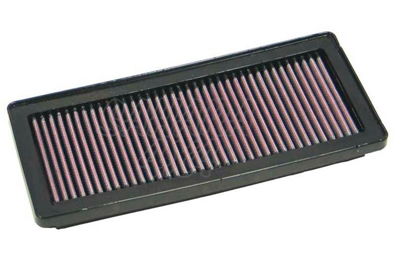 Filtro K&N Air Filter para reemplazo para Fiat Panda II  - K&N 33-2870: Alto 2.9 cm x Largo 28.1 cm x Ancho 12.2 cm.