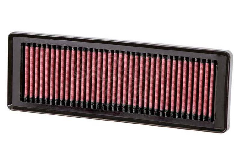 Filtro K&N Air Filter para reemplazo para Fiat Panda II  - K&N 33-2931: Alto 2.5 cm x Largo 28.3 cm x Ancho 9.8 cm.
