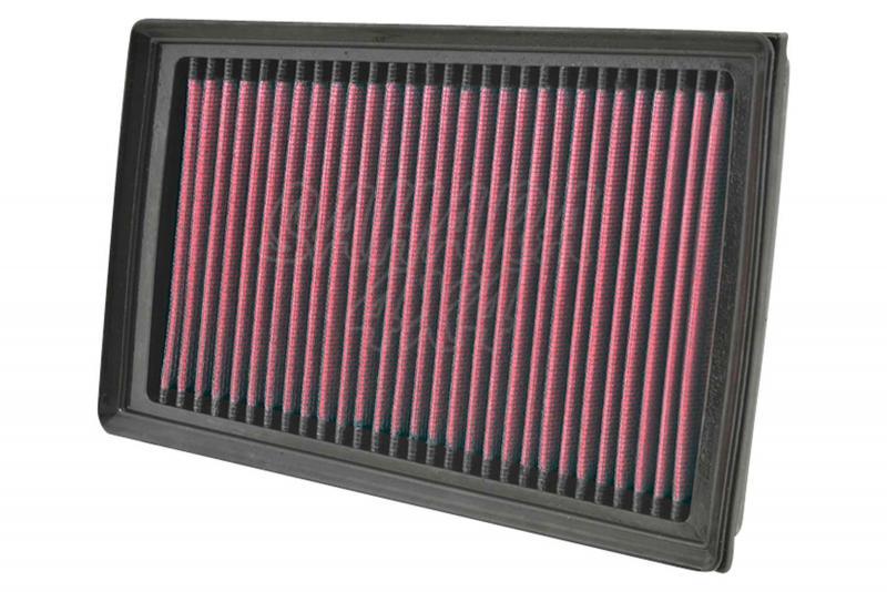 Filtro K&N Air Filter para reemplazo Nissan Qashqai/X-trail II/Renault Koleos - K&N 33-2944: Alto 2.9 cm x Largo 23 cm x Ancho 16.4 cm.