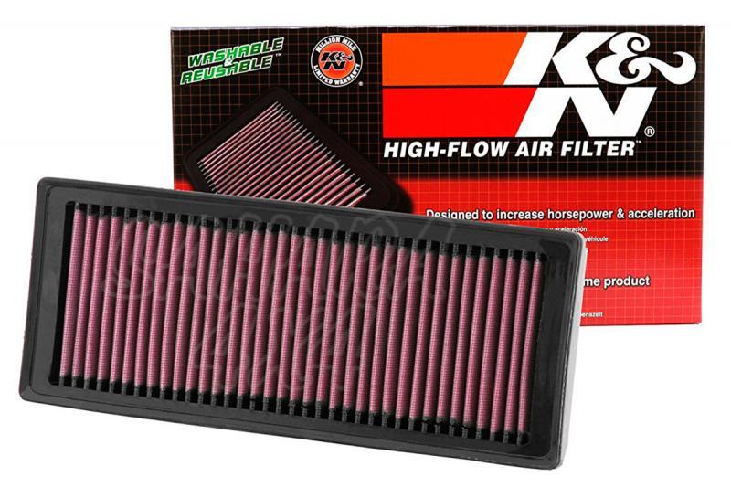 Filtro K&N Air Filter para reemplazo Audi Q5 2.0 Gasolina/Diesel - K&N 33-2945: Alto 3 cm x Largo 34,1 cm x Ancho 13,5 cm