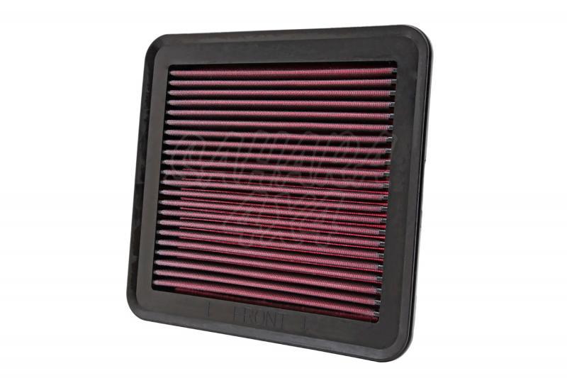 Filtro K&N Air Filter para reemplazo Mitsubishi L200 2.5 Gasolina, 2.5 Diesel (06-15) - K&N 33-2951: Alto 3.5 cm x Largo 23.8 cm x Ancho 23.8 cm.