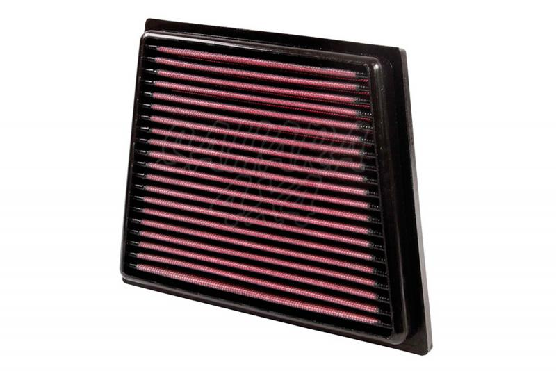 Filtro K&N Air Filter para reemplazo para Ford EcoSport - K&N 33-2955: Alto 2.7 cm x Largo 20 cm x Ancho 16.2 cm.