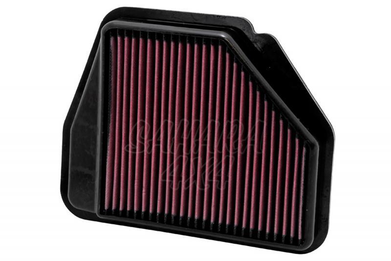 Filtro K&N Air Filter para reemplazo Chevrolet Captiva/Opel Antara - K&N 33-2956: Alto 3.7 cm x Largo 28.6 cm x Ancho 22.9 cm.