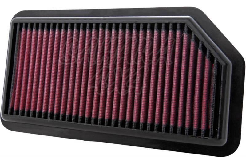 Filtro K&N Air Filter para reemplazo para Kia Soul 2008-2013 - K&N 33-2960: Alto 2.5 cm x Largo 24.8 cm x Ancho 13 cm.