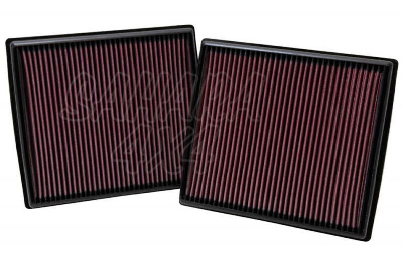 Filtro K&N Air Filter para reemplazo Mercedes Benz GL(X164)/Clase M(W164) - K&N 33-2973: Alto 2.9 cm x Largo 25.7 cm x Ancho 18.4 cm.