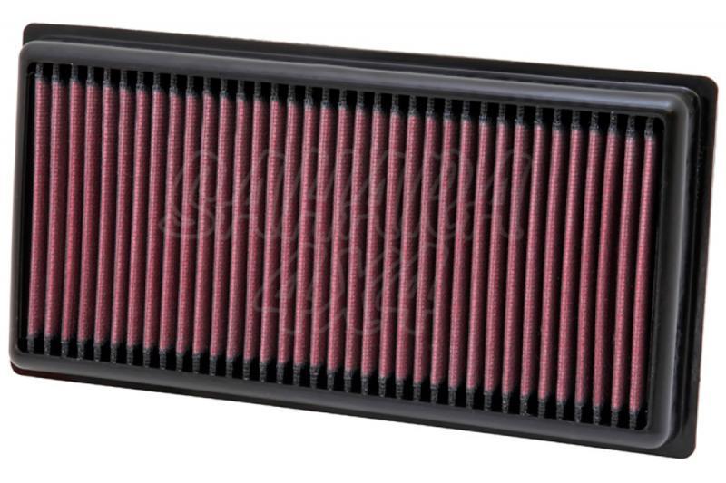 Filtro K&N Air Filter para reemplazo para Fiat Panda III - K&N 33-2981: Alto 2.7 cm x Largo 27.1 cm x Ancho 13.8 cm.