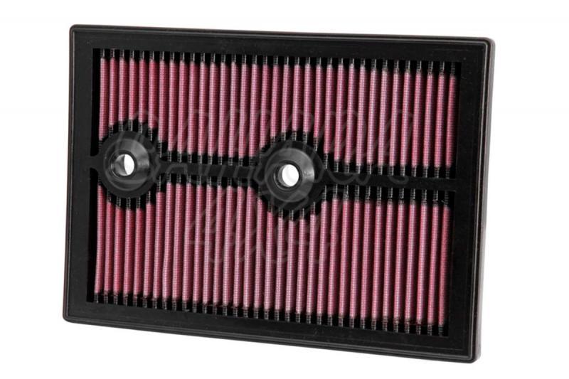 Filtro K&N Air Filter para reemplazo para Audi Q3 Gasolina - K&N 33-3004: Alto 2,5 cm x Largo 26,5 cm x Ancho 18,7 cm (Especificar motor)