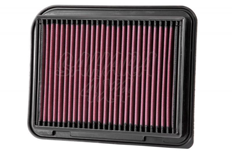 Filtro K&N Air Filter para reemplazo Mitsubishi ASX/Outlander III - K&N 33-3015: Alto 3.8 cm x Largo 25.7 cm x Ancho 20.8 cm.