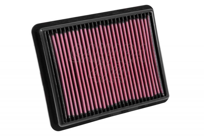 Filtro K&N Air Filter para reemplazo para Mazda CX-5 2012-2015 - K&N 33-3024: Alto 3.5 cm x Largo 25.1 cm x Ancho 20.2 cm.