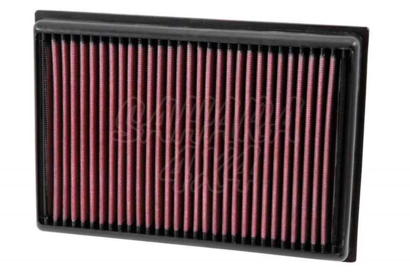 Filtro K&N Air Filter para reemplazo para Chevrolet Trax/Opel Mokka 2012-2015 - K&N 33-5007: Alto 3 cm x Largo 22,9 cm x Ancho 16 cm