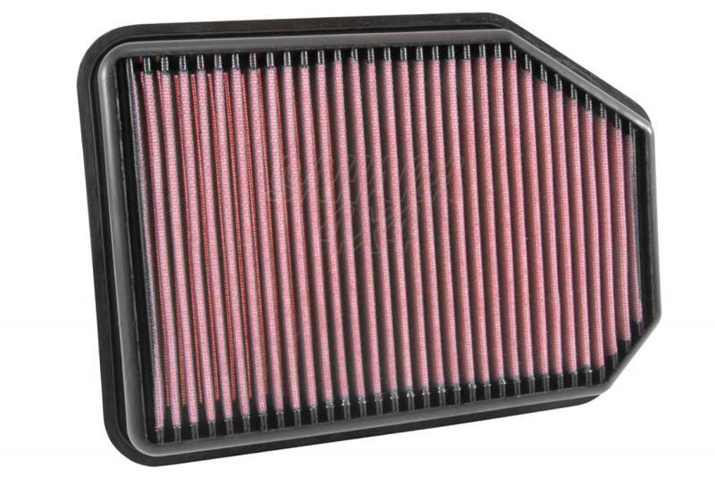 Filtro K&N Air Filter para reemplazo Jeep Wrangler 2.8 Diesel (07-15) - K&N 33-5023: Alto 3.8 cm x Largo 29.5 cm x Ancho 21.1 cm.
