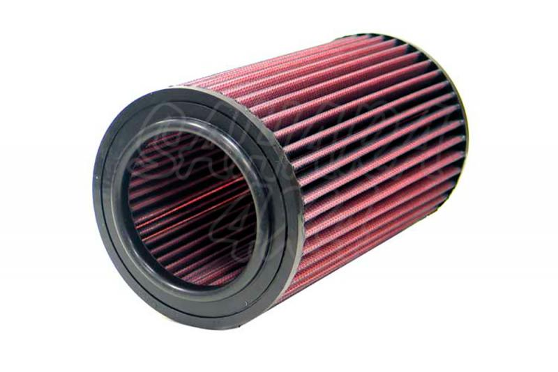 Filtro K&N Air Filter para reemplazo Terrano II y Ford Maverick  - Alto 17,5 cm x diametro interior 7,0 cm x diametro exterior 12,5 cm  Un lado del filtro lleva una tapa , asegurarse antes de pedirlo.
