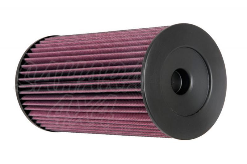 Filtro K&N Air Filter para reemplazo Toyota Hilux 2.5 Diesel(01-08) - K&N 38-9203: Alto 27.7 cm  x diametro interior 8.7 cm x diametro exterior 14.6 cm.