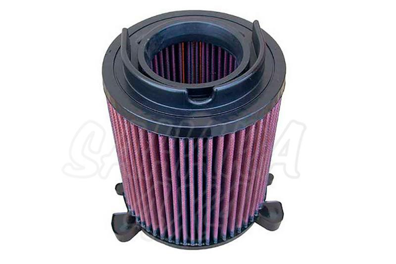 Filtro K&N Air Filter para reemplazo Skoda Yeti(5J) 1.4 Gasolina(09-14) - K&N E-2014: Alto 16.2 cm