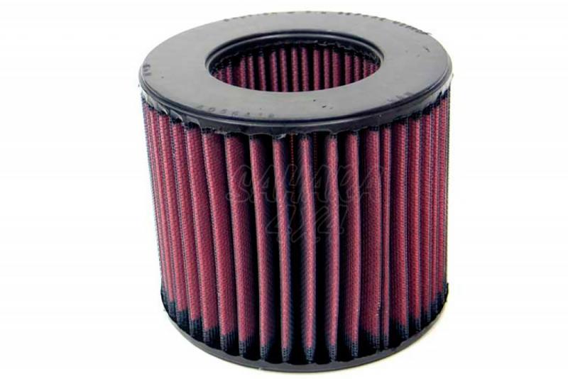 Filtro K&N Air Filter para reemplazo Isuzu Trooper 2.2 Diesel 83-91; 2.8 Diesel 87-91 - K&N E-2220: Alto 12.5 cm x diametro interior 7.6 cm x diametro exterior 14.3 cm.
