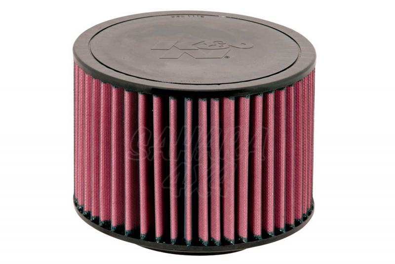 Filtro K&N Air Filter para reemplazo Ford Ranger/Toyota Hilux - K&N E-2296: Alto 15.2 cm x diametro exterior 21.9 cm