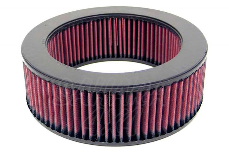 Filtro K&N Air Filter para reemplazo Mitsubishi Montero 2.6 Gasolina(83-90) - K&N E-2723: Alto 7.9 cm x diametro interior 17.1 cm x diametro exterior 23.5 cm.
