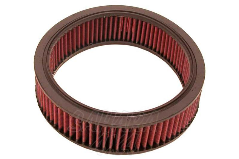 Filtro K&N Air Filter para reemplazo Nissan Pick up(D21)/Terrano(WD21) - K&N E-2813: Alto 7.3 cm x diametro interior 20.3 cm x diametro exterior 24.8 cm.