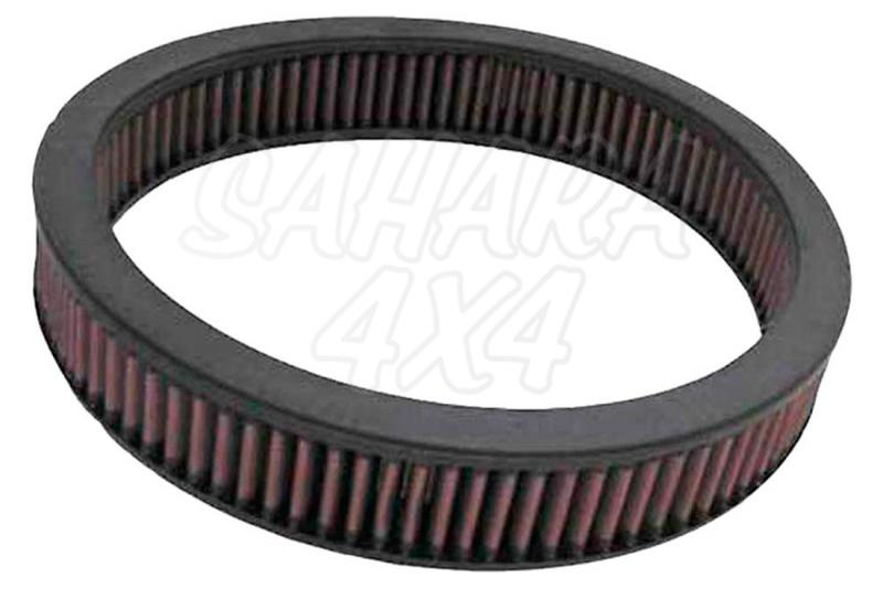 Filtro K&N Air Filter para reemplazo Toyota 4-runner 2.4 Carb(84), 2.4 Gasolina(85-87) Excl. turbo - K&N E-2820: Alto 5.1 cm x diametro interior 24.1 cm x diametro exterior 29.2 cm.