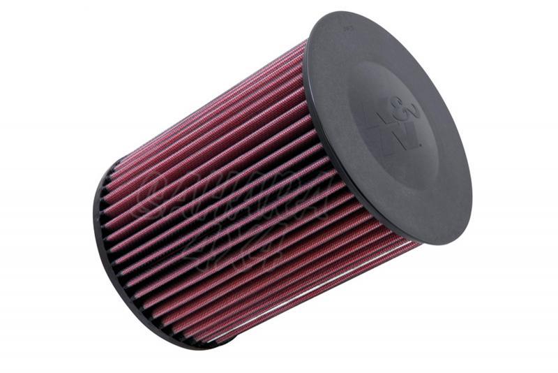 Filtro K&N Air Filter para reemplazo Ford Kuga 1.6 Gasolina, 2.0 Diesel - K&N E-2993: Alto 21 cm x diametro interior 7 cm x diametro exterior 15.9 cm.