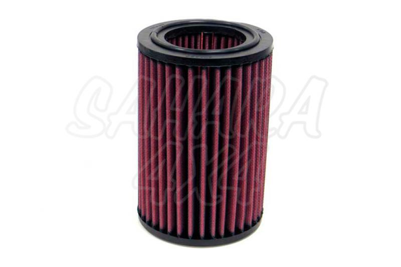 Filtro K&N Air Filter para reemplazo Suzuki Samurai 1.0 Carb(81-88) - K&N E-9104: Alto 17.1 cm x diametro interior 6.7 cm x diametro exterior 11.3 cm.
