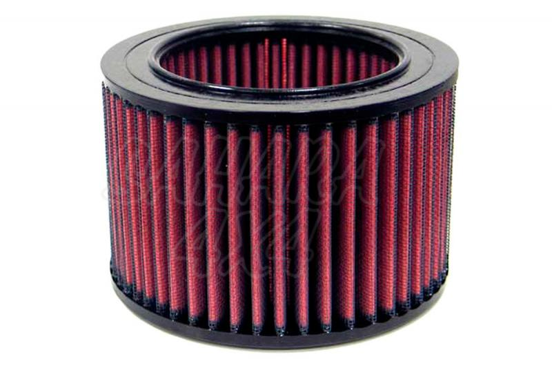 Filtro K&N Air Filter para reemplazo para Volkswagen Transporter T2/T3 1985-1992 - K&N E-9140: Alto 9.8 cm x diametro interior 10.2 cm x diametro exterior 15.2 cm.