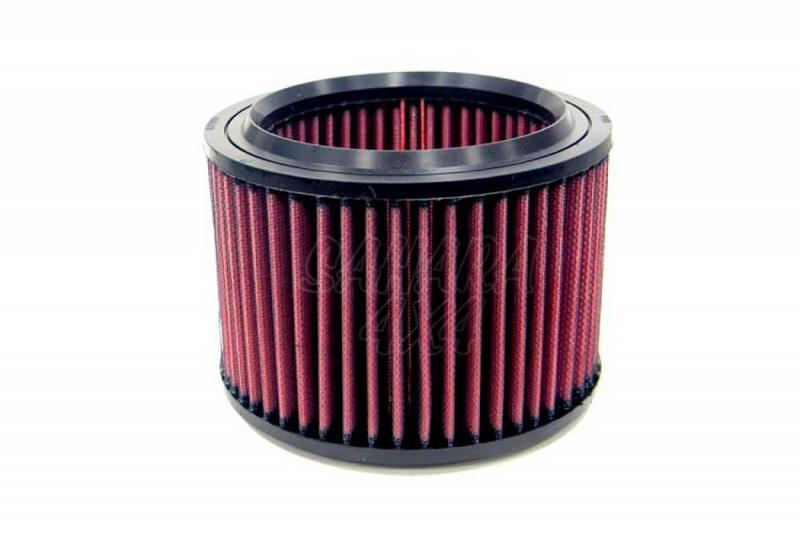 Filtro K&N Air Filter para reemplazo Lada Niva 1.9 Diesel 93-98 - K&N E-9184: Alto 12.4 cm x diametro interior 12.1 cm x diametro exterior 16.2 cm.