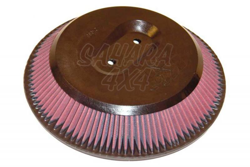Filtro K&N Air Filter para reemplazo Nissan Pick up(D21)/(D22) - K&N E-9233: Alto 6.4 cm x diametro interior 26.5 cm x diametro exterior 32.4 cm.