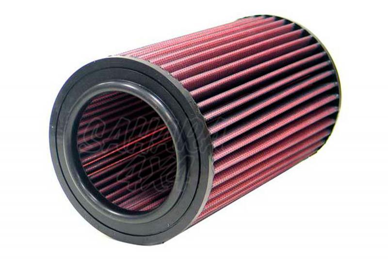 Filtro K&N Air Filter para reemplazo para Nissan Navara(D22)/Terrano II y Ford Maverick - K&N E-9251: Alto 22.9 cm x diametro interior 8.9 cm x diametro exterior 13.7 cm.